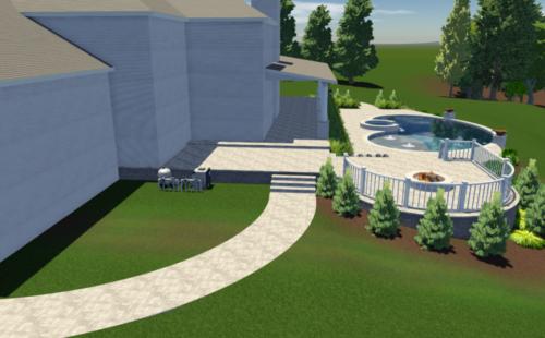 3D Custom Pool Render
